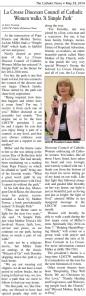 LuAnn Miller in Catholic Times